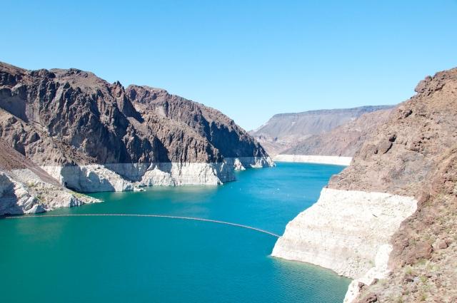 O Lago de Hoover Dam no caminho para Las Vegas
