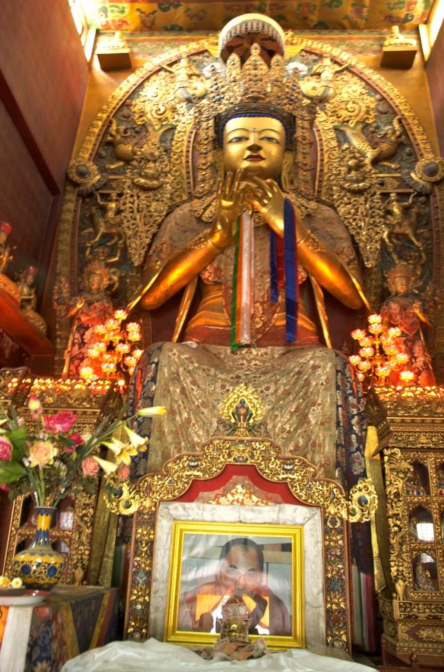 Imagem de Buda no Templo Bouddhnath