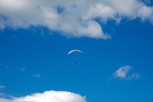 O salto de parapente