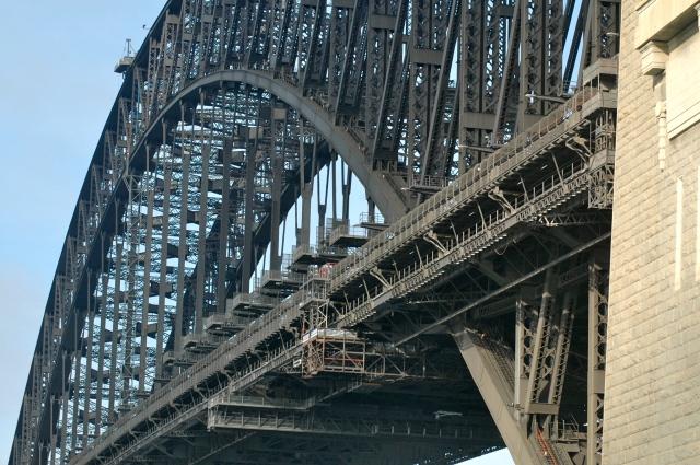 A estrutura de aço da Ponte de Sydney