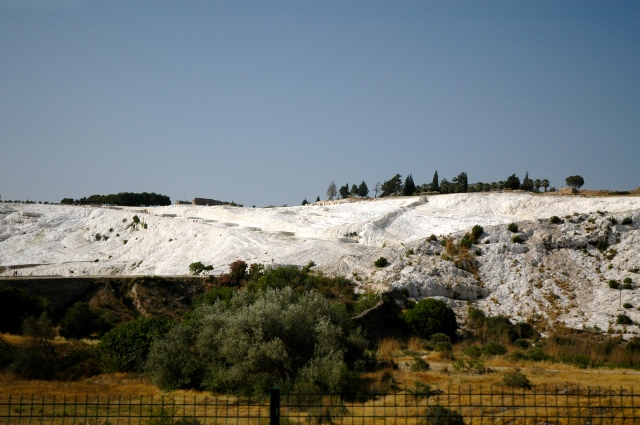 As rochas brancas de Pamukkale