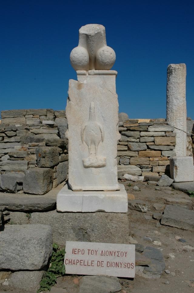 Monumento fálico do Santuário de Dionisio
