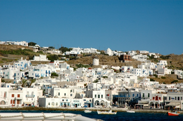 As casas brancas de Mykonos