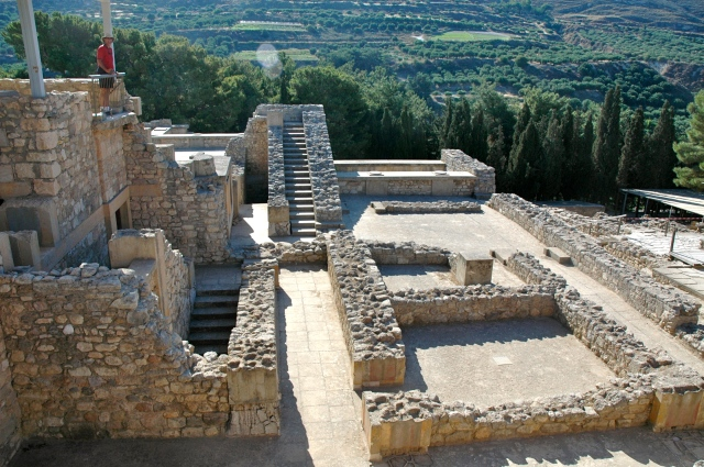 Vista do Palácio de Knossos