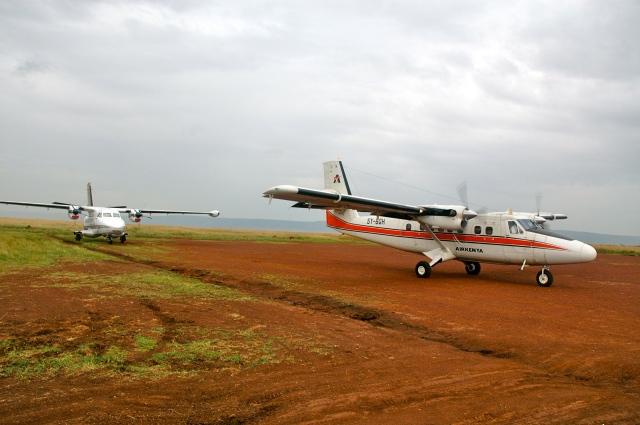 O avião que nos levou á Reserva Masai Mara