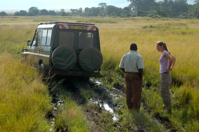 Em julho era verão no Quênia e o tempo estava chuvoso.