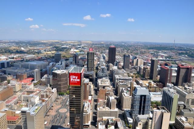 A vista de Johanesburgo a partir do Carlton Building