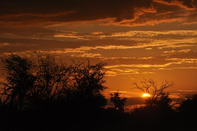 O pôr-do-sol da África
