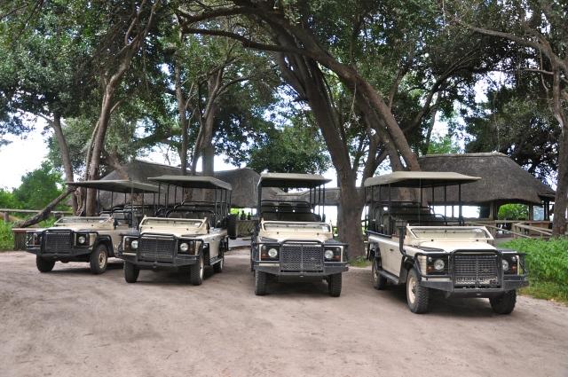 Os Land Rover preparados para os Safaris