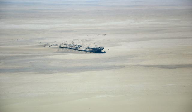 Navio naufragado na Costa do Esqueleto