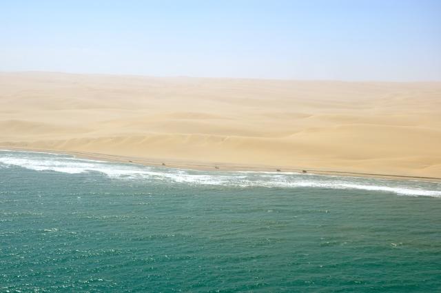 O deserto encontra o mar