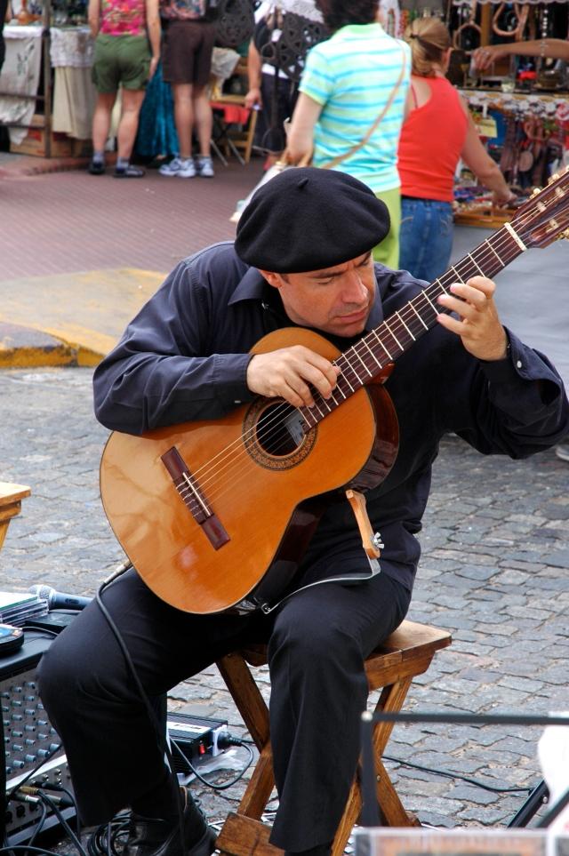 Artistas de rua em San Telmo