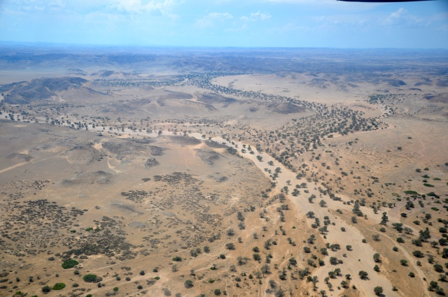 Enormes extensões de rios secos na região de Damaraland