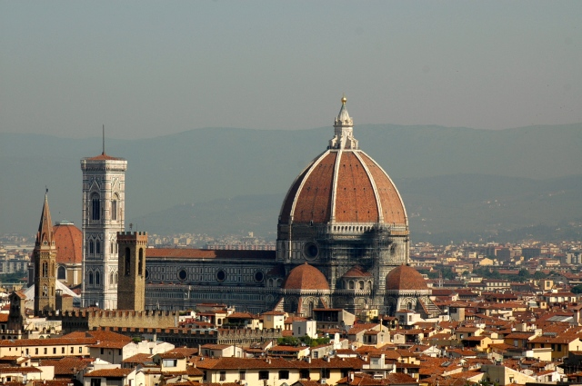 A vista de Florença a partir do mirante