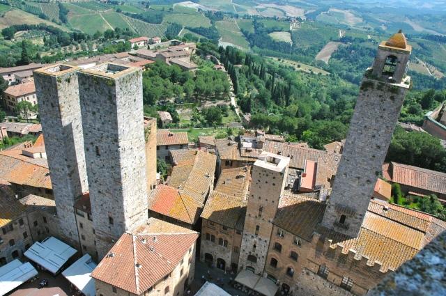 San Giminiano e as torres medievais