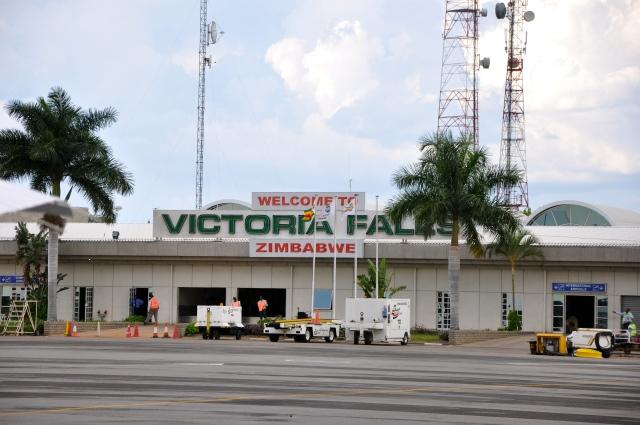 Aeroporto de Victoria Falls no Zimbábue