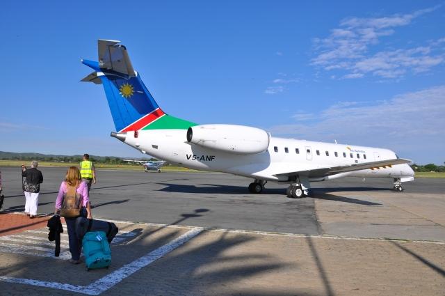 Chegando a Windhoek