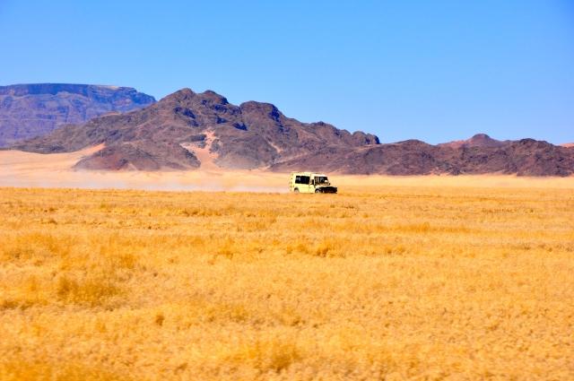 Boa parte do território da Namíbia é desértico