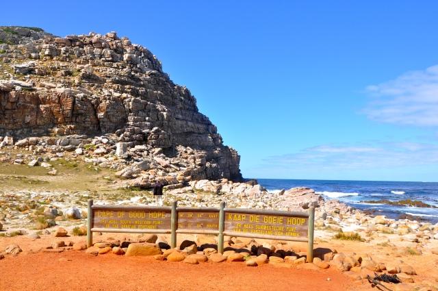 Marco geográfico do Cabo da Boa Esperança.