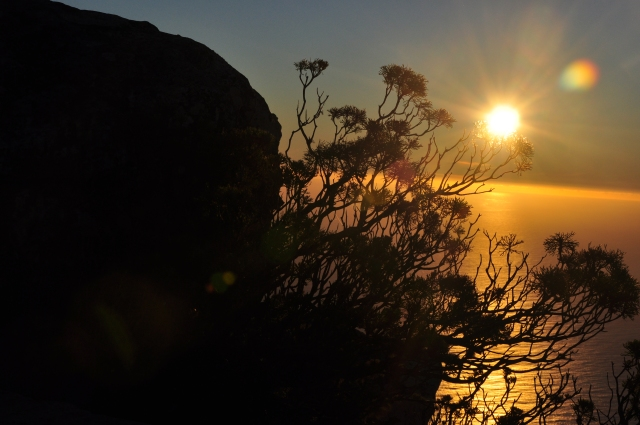 Pôr-do-sol a partir da Table Mountain.