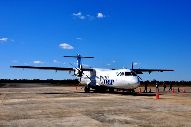 Avião da Trip chegando a Lençóis.