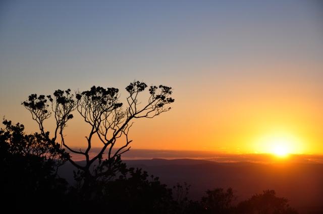 O por-do-sol do alto do Morro do Pai Inácio.