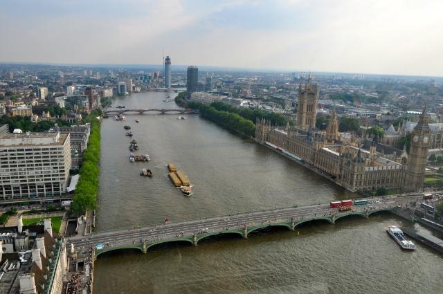 Vista de Londres a partir da London Eye.