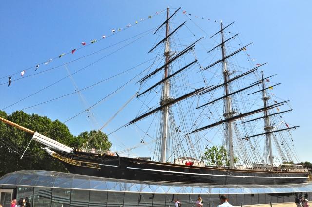 O barco/museu Cutty Sark