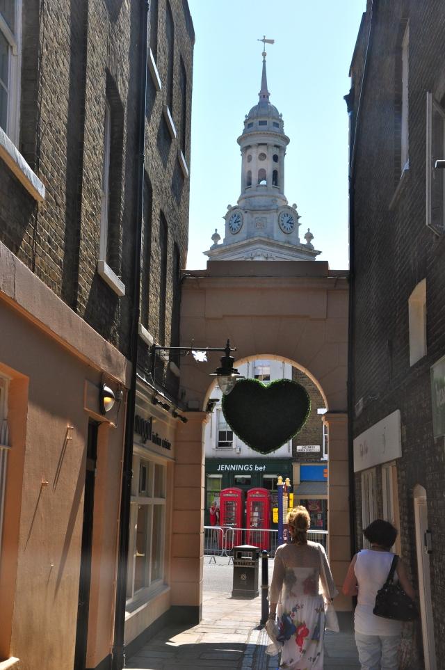 Ruas estreitas em Greenwich