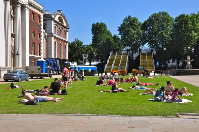 O Greenwich Park estava fechado para as Olimpíadas.