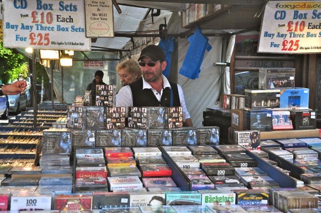 Vendedor de CD's em Notting Hill