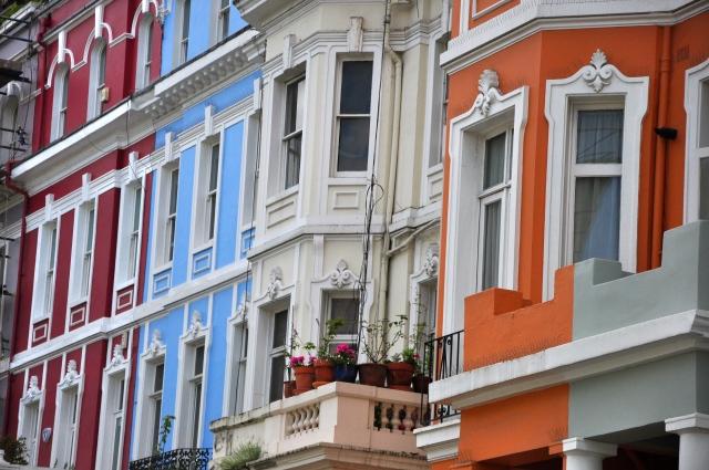Casas coloridas em Portobello Road