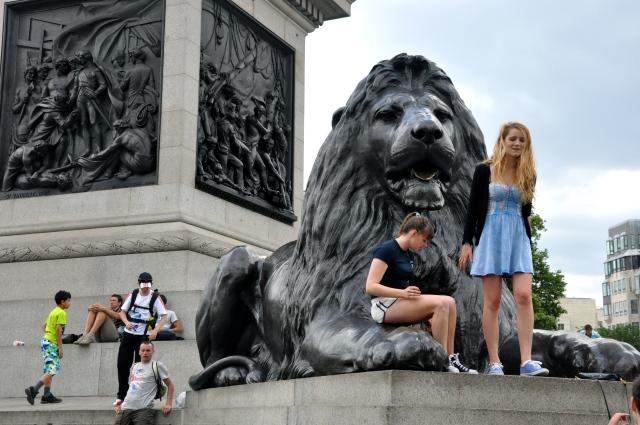 Os leões da Trafalgar Square