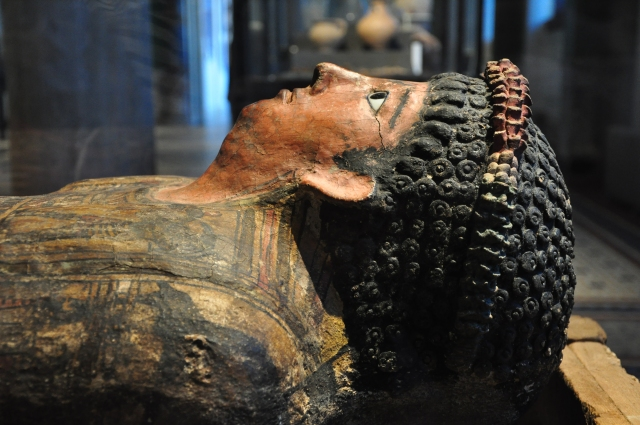 Sarcófago egípcio no Museu Novo de Berlim