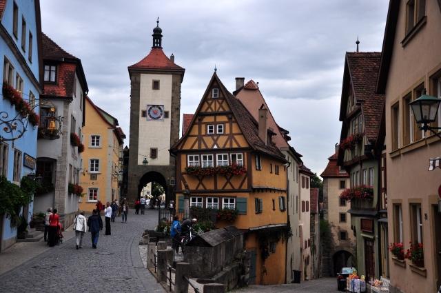 Casas medievais em Rotemburgo