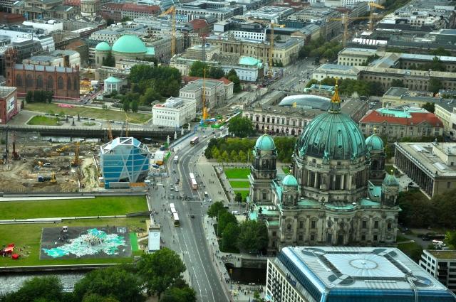 Berlim - Poucos carros nas ruas