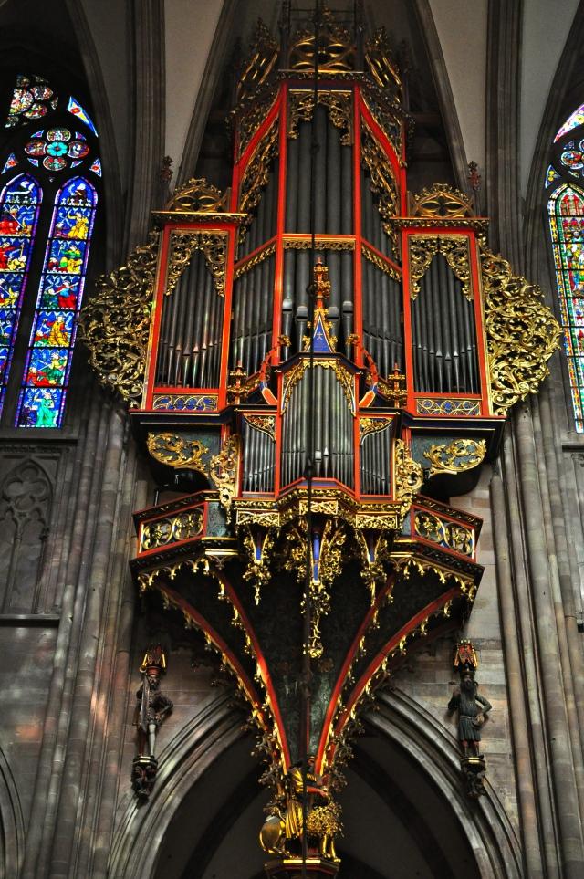 O magnífico órgão da Catedral de Estrasburgo.