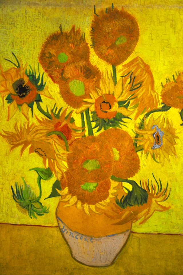 Os Girassóis de Van Gogh  de 1889.