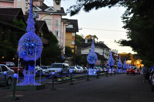 A cidade decorada para o Natal Luz