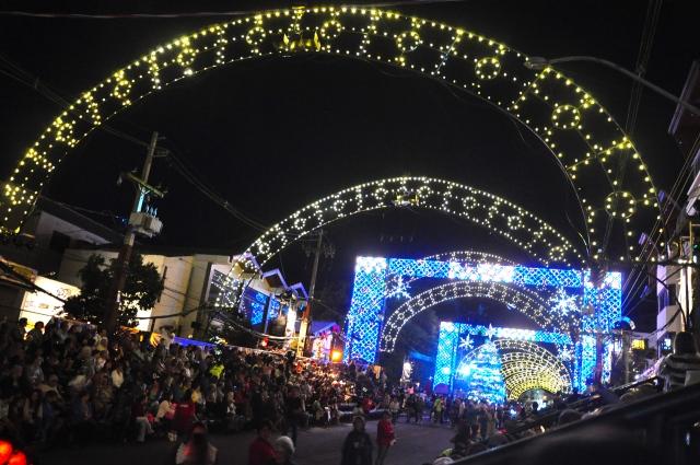 Área do Grande Desfile na Rua das Hortênsias.