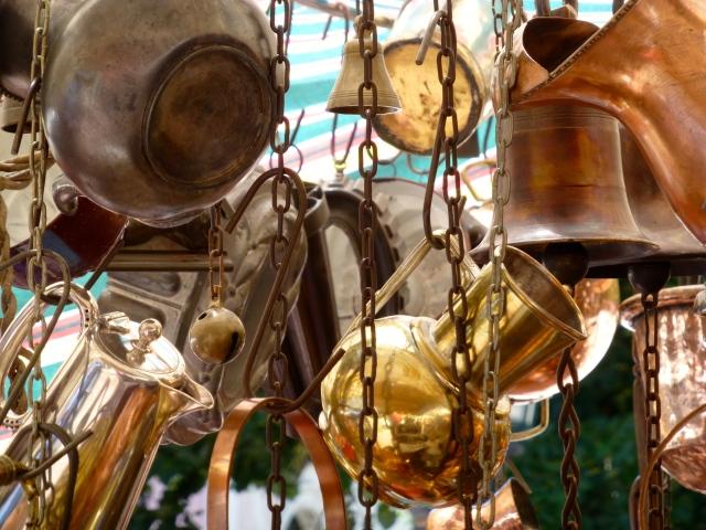Barracas de antiguidades na feira de San Telmo