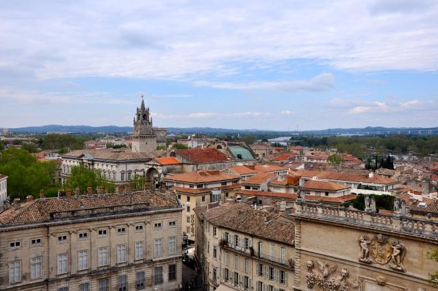 Vista aérea da cidade de Avignon.