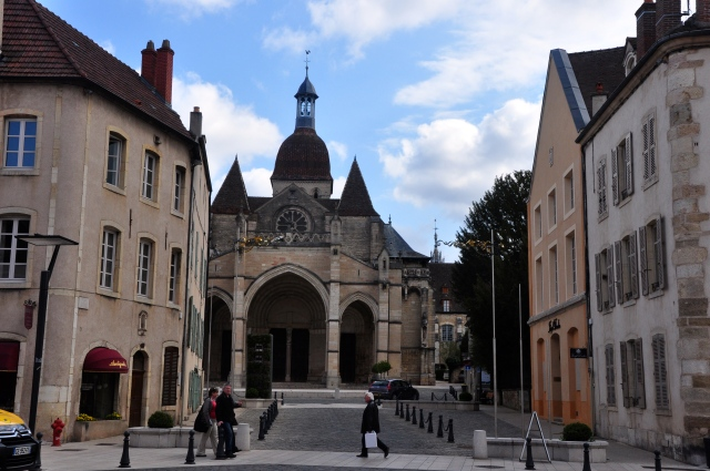 A Catedral de Beaune.