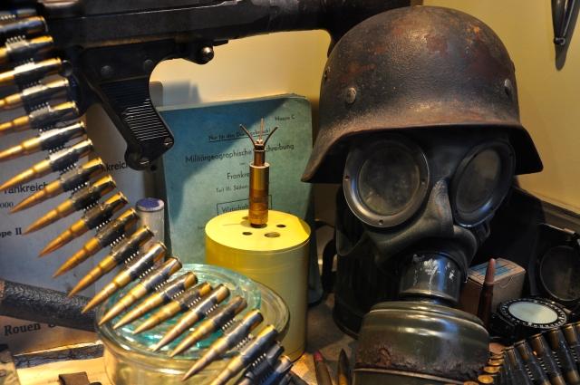 Equipamentos e munição utilizados na Operação Pegasus.