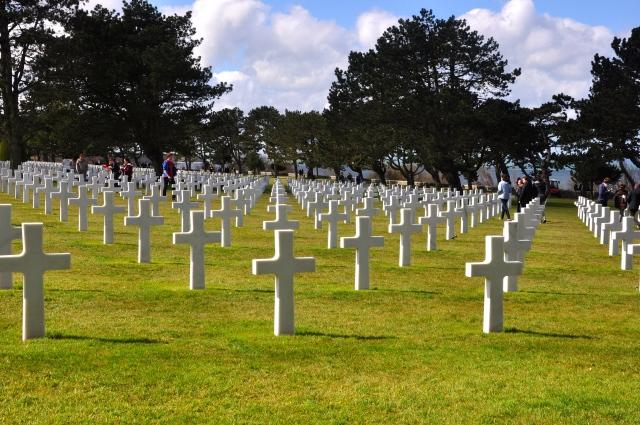 O Cemitério dos Soldados Americanos na Normandia.