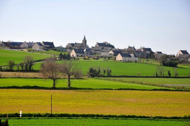 A paisagem rural da Normandia.