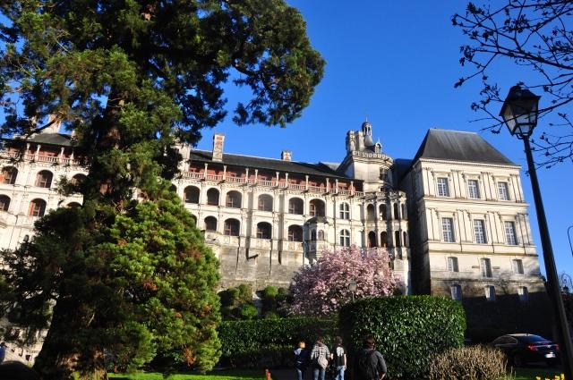 O Castelo de Blois no centro da cidade