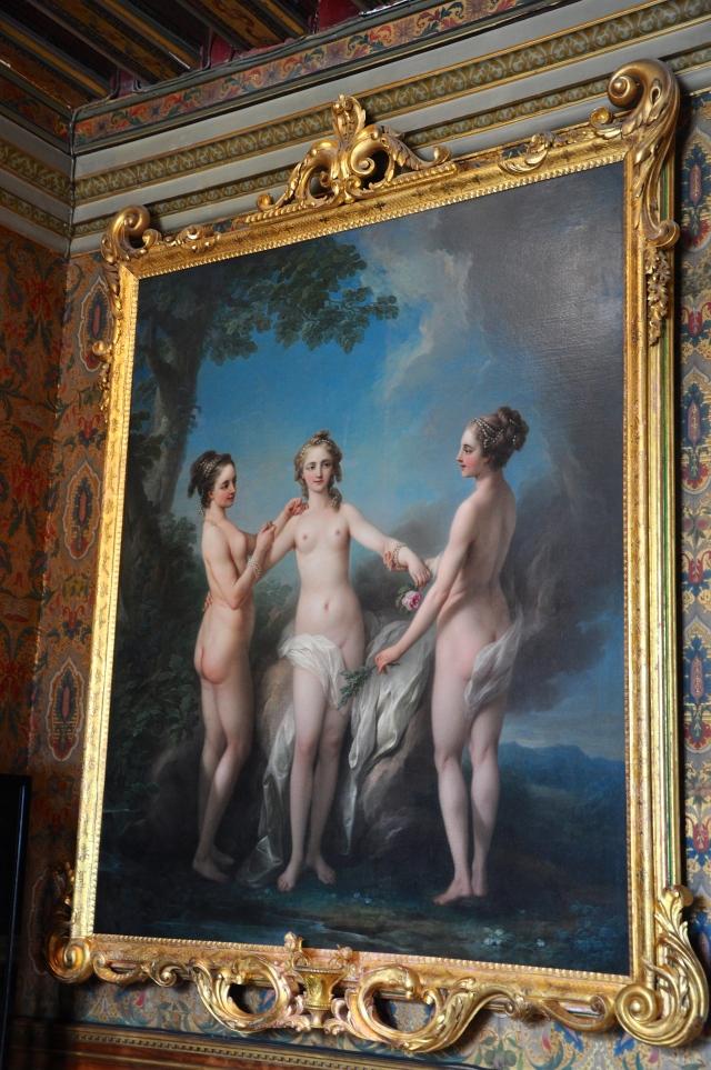 A riqueza de decoração no interior do Palácio.
