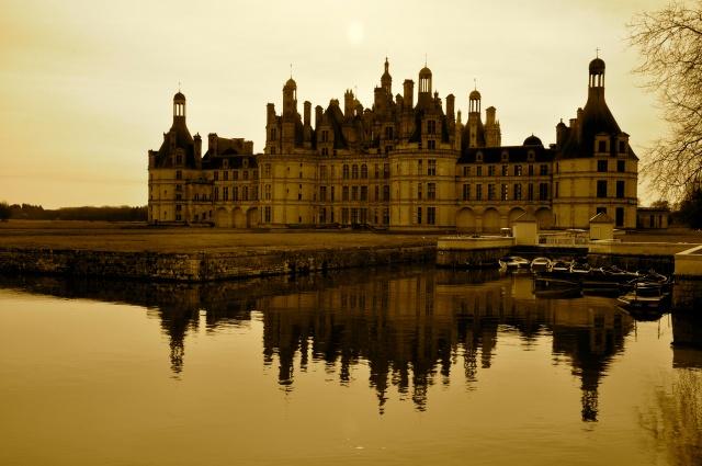 O Castelo Chambord - símbolo de riqueza e poder no Vale do Loire.
