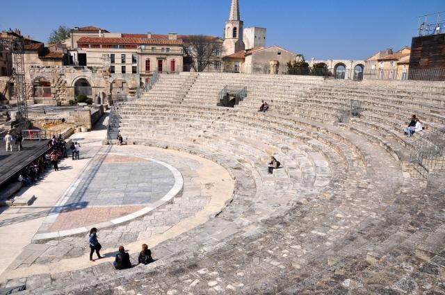 O teatro romano de Arles.